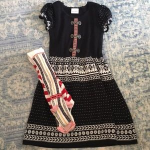 Girl's Hanna Andersson dress & tights